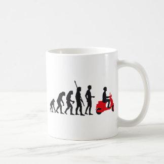 evolution scooter basic white mug