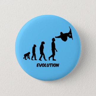 evolution skateboarding 6 cm round badge