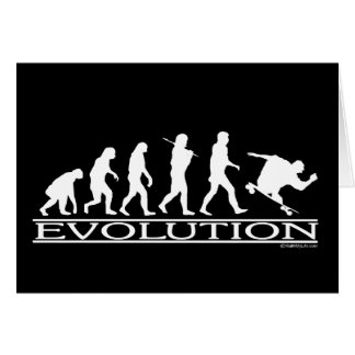 Evolution - Skateboarding - Male Greeting Card