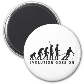 evolution ski 6 cm round magnet