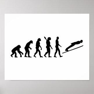 Evolution ski jumping poster