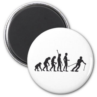 evolution ski refrigerator magnets