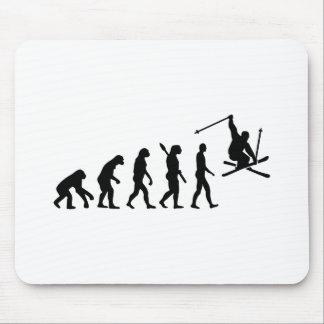 Evolution skiing mouse pad