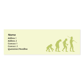 Evolution - Skinny Business Card Template