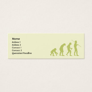Evolution - Skinny Mini Business Card