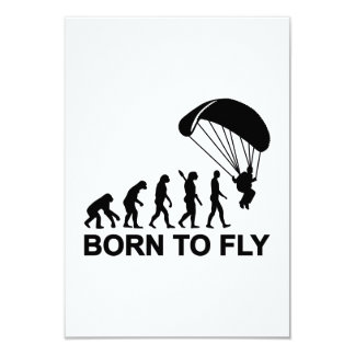 """Evolution Skydiving born to fly 3.5"""" X 5"""" Invitation Card"""