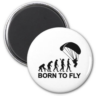 Evolution Skydiving born to fly 6 Cm Round Magnet