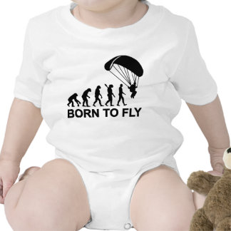 Evolution Skydiving born to fly T Shirts