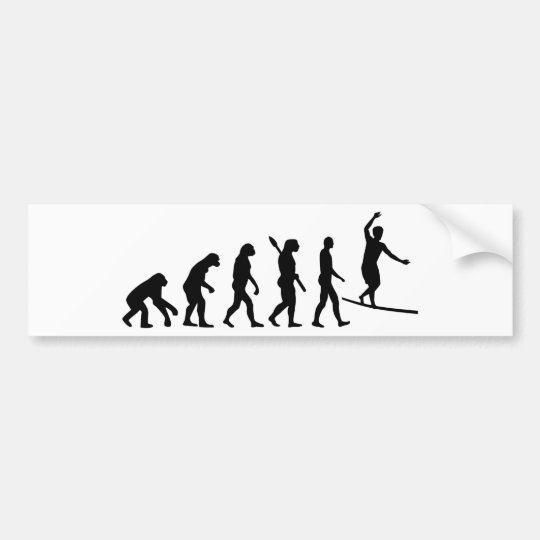 Evolution Slackline Bumper Sticker