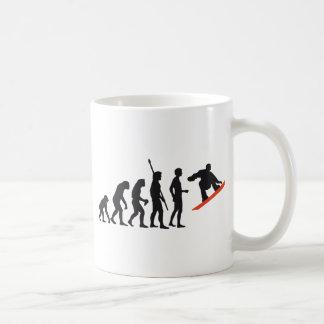 evolution snowboard basic white mug