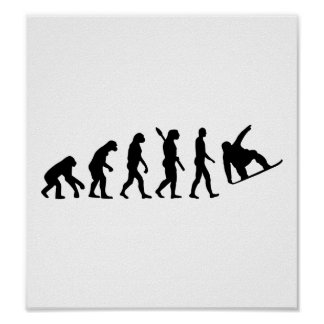 Evolution snowboarding poster
