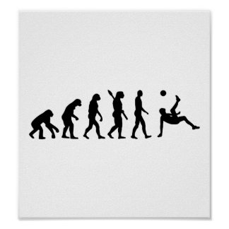 Evolution soccer bicycle kick poster