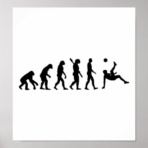 Evolution soccer bicycle kick poster