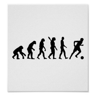 Evolution soccer player poster