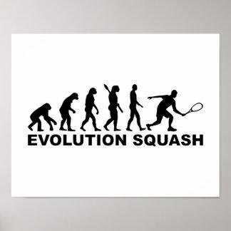 Evolution Squash Poster
