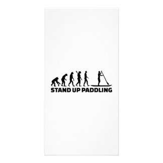 Evolution Stand up paddling Personalized Photo Card