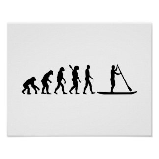 Evolution Stand up paddling Poster