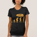 evolution - stop following me! tees