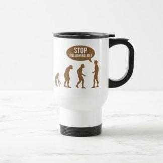 evolution - stop following me! travel mug