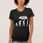 evolution - stop following me! tshirts