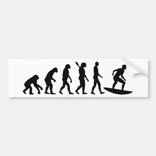 Evolution Surfing Bumper Stickers