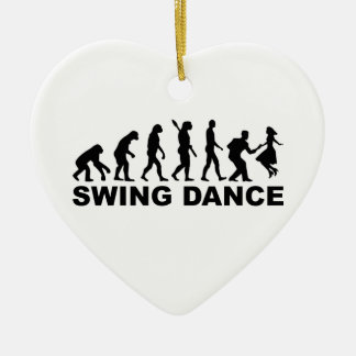 Evolution swing dance christmas ornament