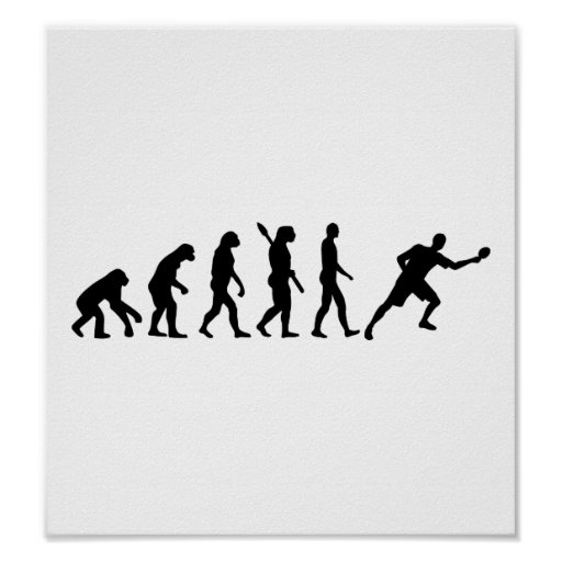 Evolution Table tennis ping pong Posters