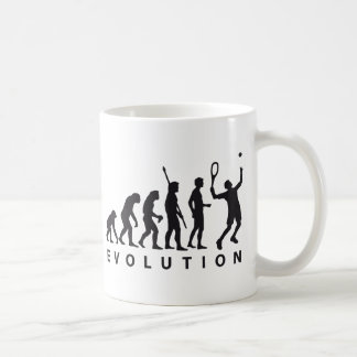 evolution tennis coffee mug