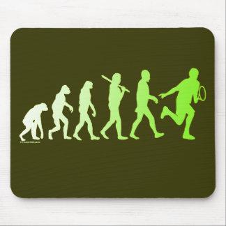 Evolution Tennis Humorous Tennis Tshirt Mouse Pad