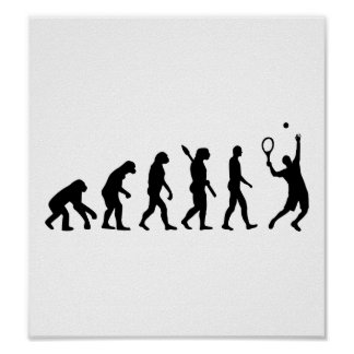 Evolution Tennis player Poster