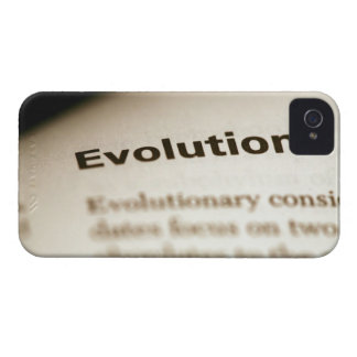 Evolution text on page Case-Mate iPhone 4 case