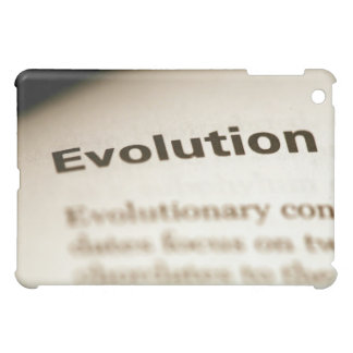 Evolution text on page iPad mini case