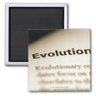 Evolution text on page magnet