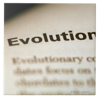 Evolution text on page tile