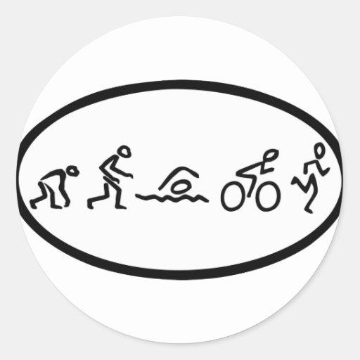 Evolution tri Eclipse Round Sticker