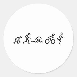 Evolution Tri Round Sticker