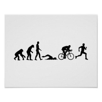 Evolution triathlon poster