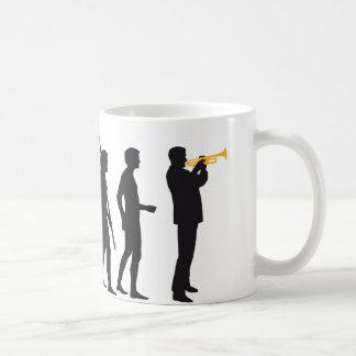 evolution trumpet more player basic white mug