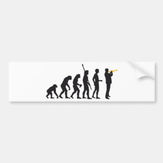 evolution trumpet more player bumper stickers