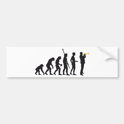 evolution trumpet more player bumper stickers
