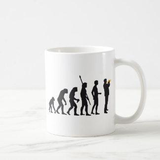 evolution trumpet player basic white mug