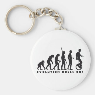 evolution unicycle basic round button key ring