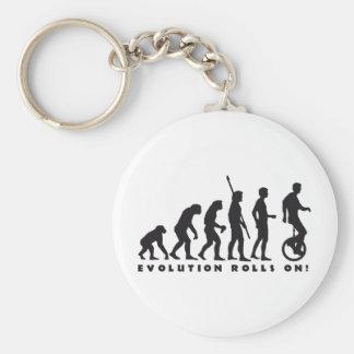 evolution unicycle basic round button key ring
