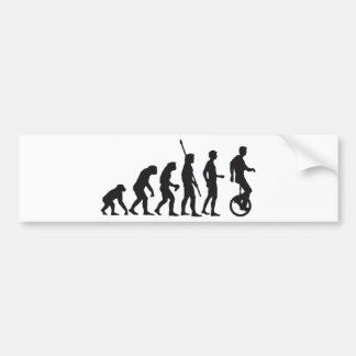 evolution unicycle bumper sticker