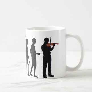 evolution violin coffee mug