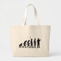 evolution violin einkaufstaschen