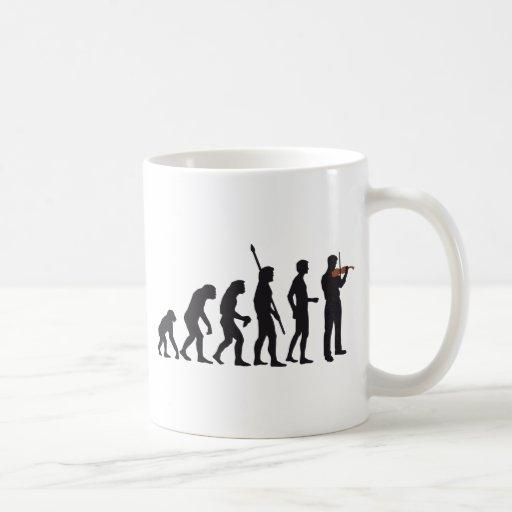 evolution violin coffee mug