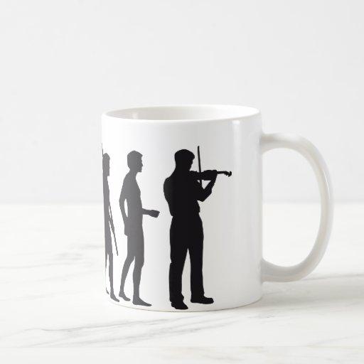 evolution violin mug