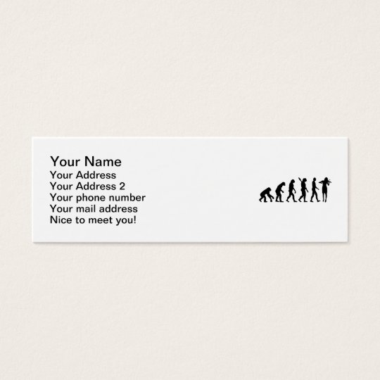 Evolution Violinist Mini Business Card