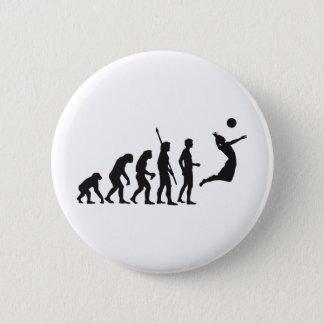 evolution volleyball 6 cm round badge